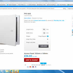 bespoke access panel prices instantly