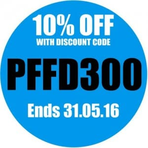Promo for 10% off PFFD300