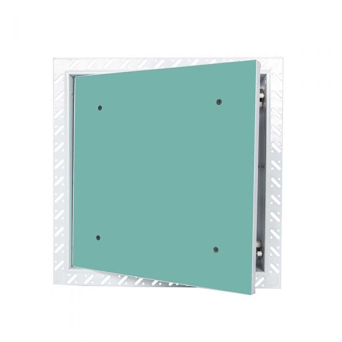 Touch latch plasterboard door access panel with beaded frame