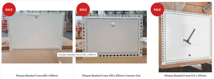Clearance of non-standard size access panels
