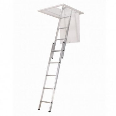 2 Section Aluminium Loft Ladder with 150KG weight limit