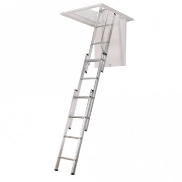 3 Section Loft Ladder with hand rail - Free pole included