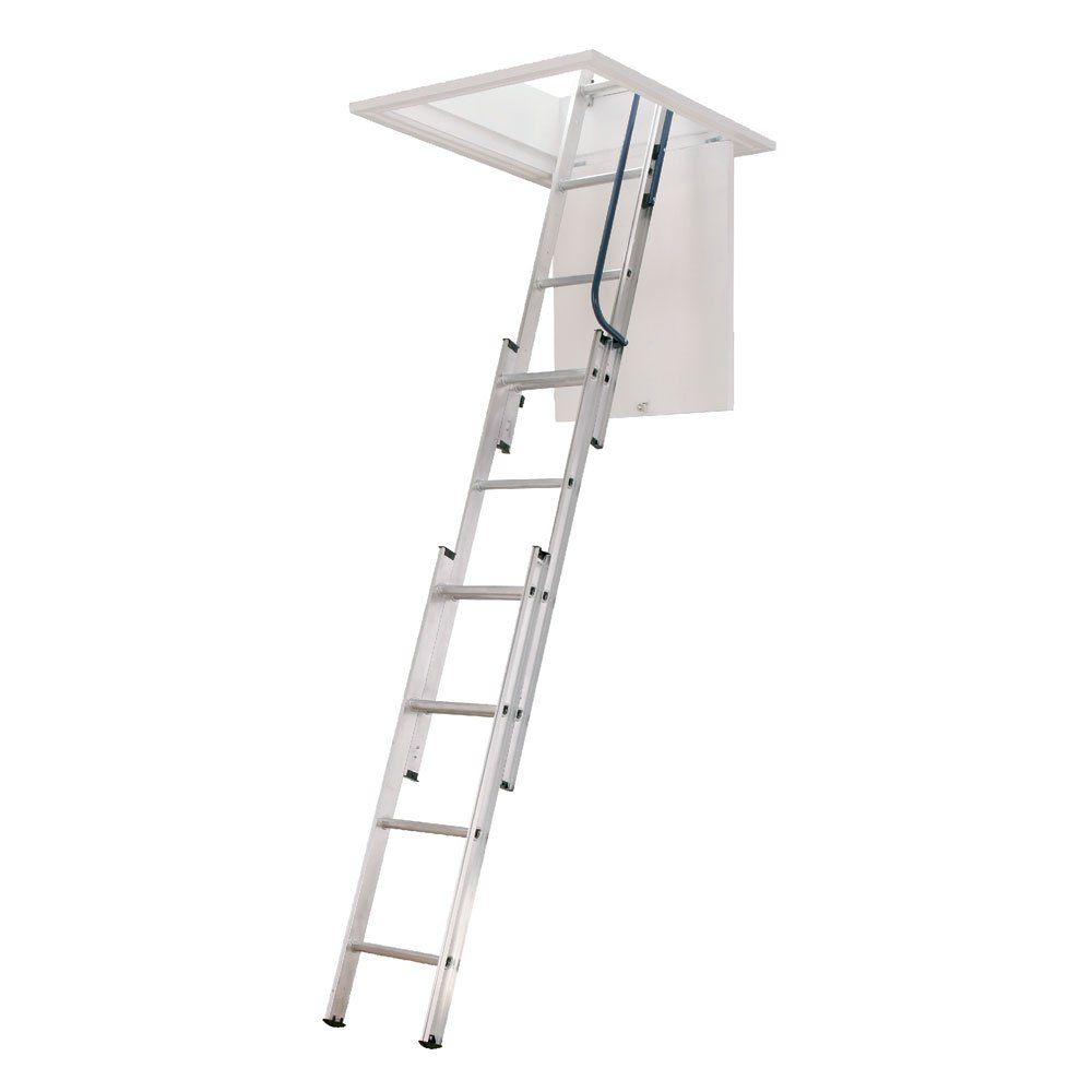 3 Section Ladder : Three section loft ladder with free pole and catch