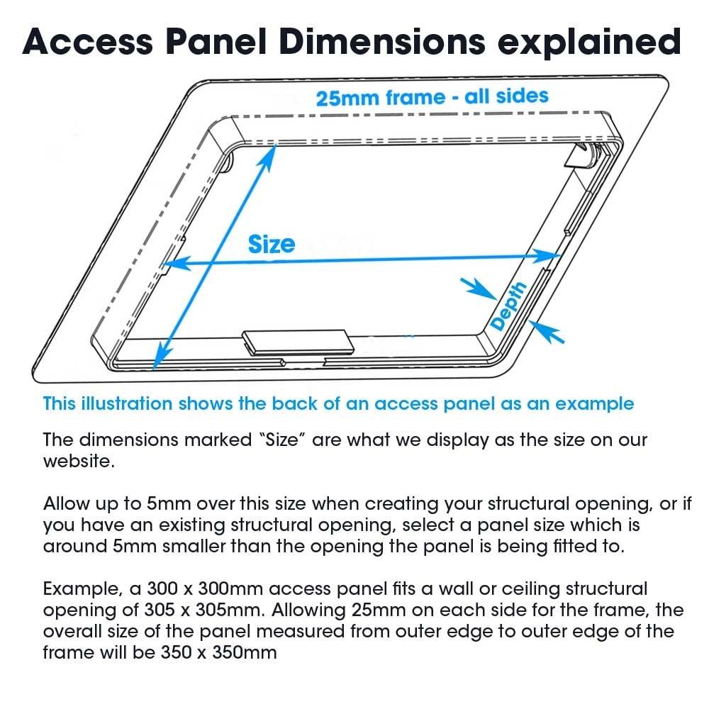 Plasterboard door access panel