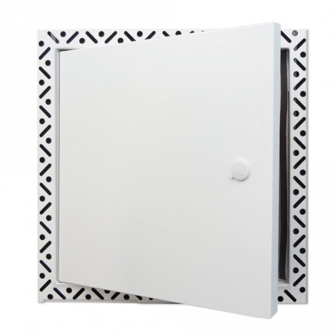 BFS-SH-S Bespoke Slim White Metal Access Panel | Beaded Frame