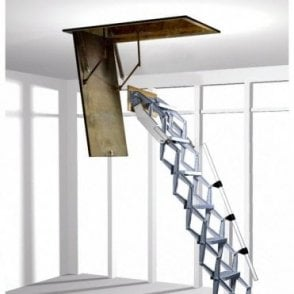 Commercial Heavy Duty Roof Access Ladder | Concertina zedfold ladder