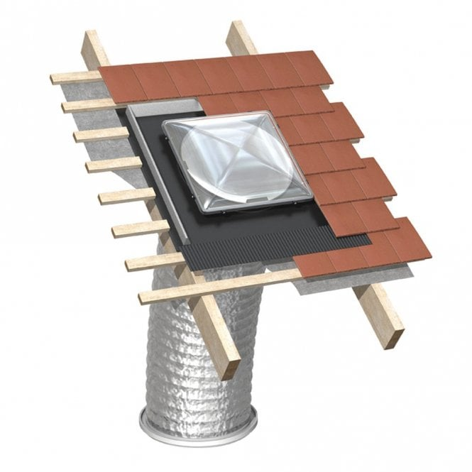 JB 550mm Tubular Skylight for a Pitched Roof Up to 1400W of light