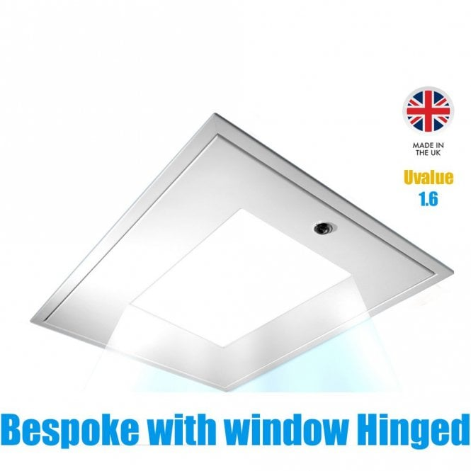 SDNL Loft Hatch with Window to allow natural light to pass through