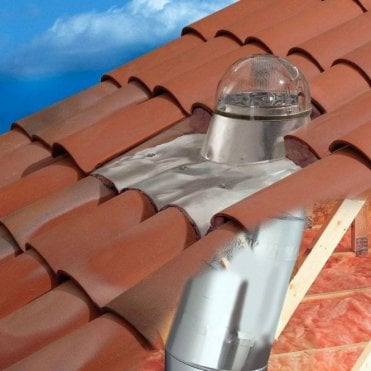 "Tubular Skylight | Sun Tunnel for a Tile Roof -  250mm / 10"" Diameter"