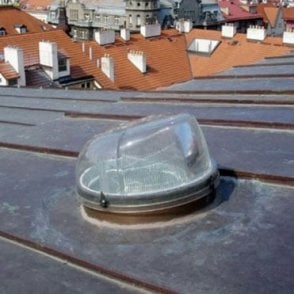 "Tubular Skylight | Sun Tunnel for a Flat Roof -  14"" Diameter"