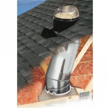 "Tubular Skylight | Sun Tunnel for a Slate Roof -  14"" Diameter"