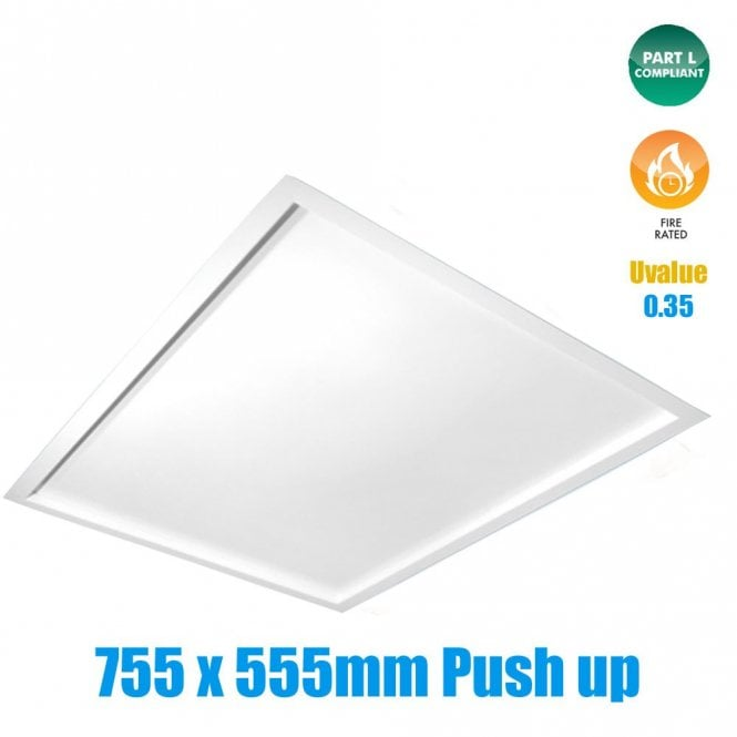 SP2 Fire Rated Insulated Loft Hatch, Part L Compliant (Push-Up)