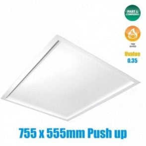 Fire Rated Insulated Loft Hatch, Part L Compliant (Push-Up)