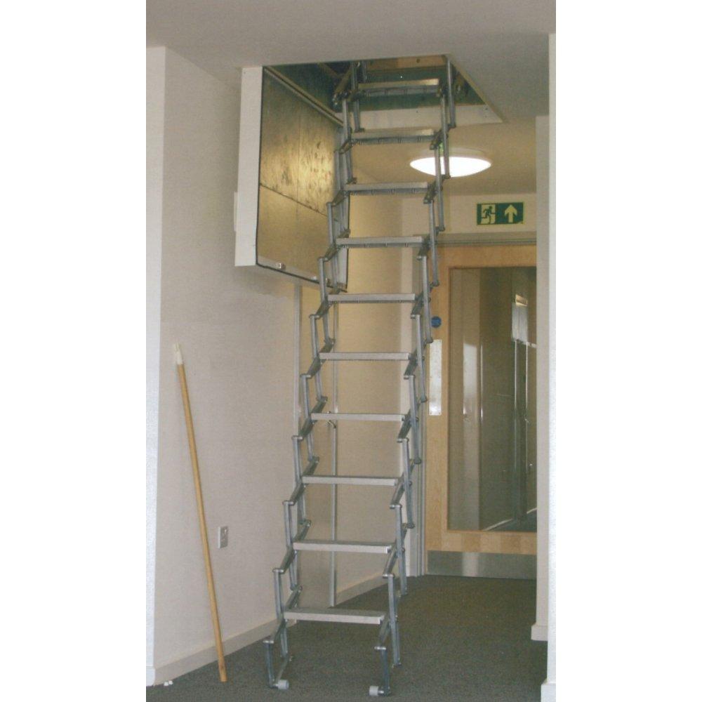 folding loft ladder with concertina zedfolding mechanism. Black Bedroom Furniture Sets. Home Design Ideas
